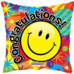 "SMILEY CONGRATULATIONS BALLOON  18""  19474-18"